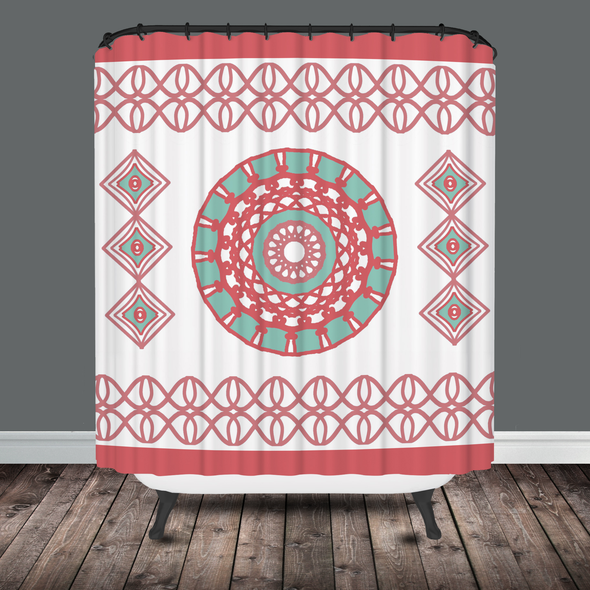 Moroccan Shower Curtain Tribal