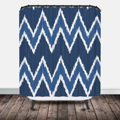 Chevron Ikat Shower Curtain