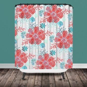 chintz shower curtain