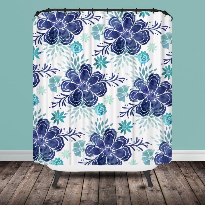 modern chintz shower curtain