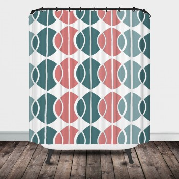 mod circles shower curtain