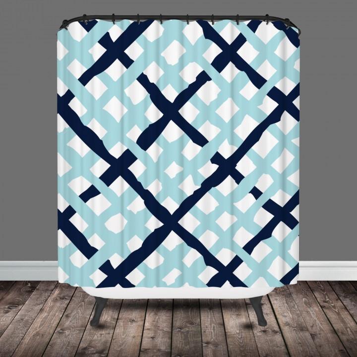 lattice shower curtain