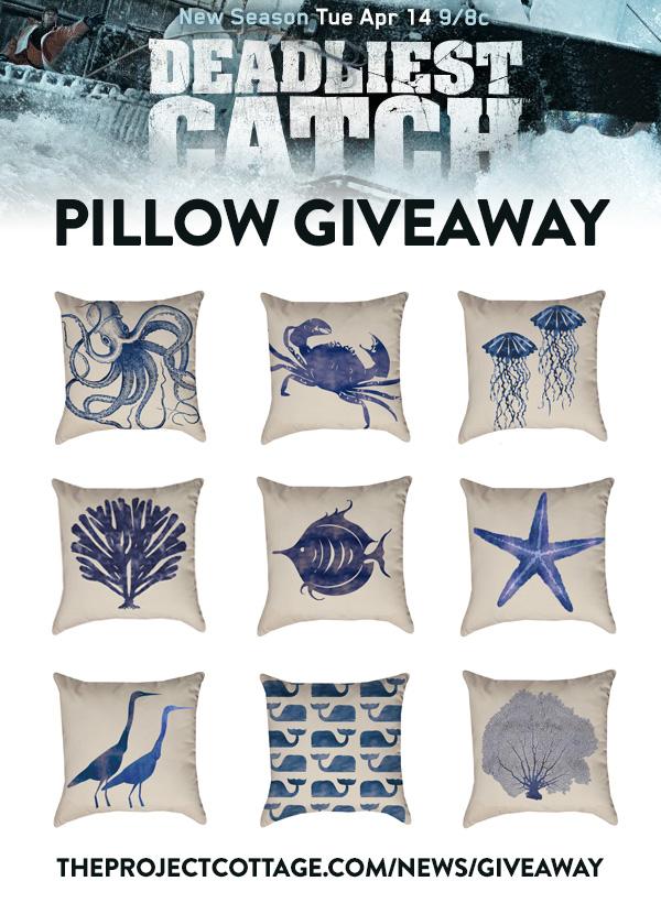 Deadliest Catch Nautical Pillow Giveaway