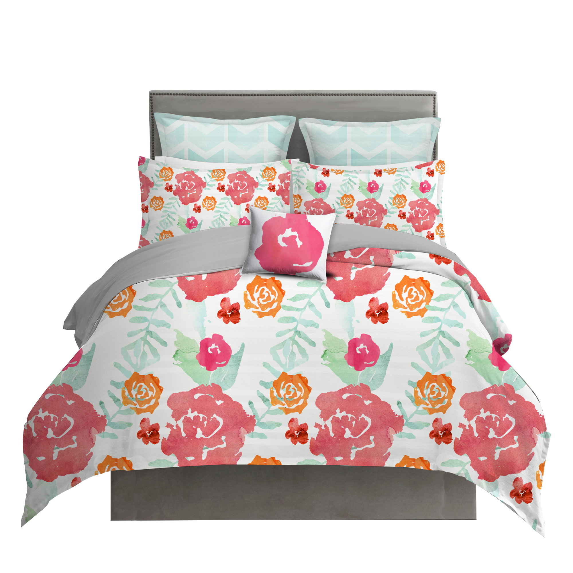 main grey ixlib cover detail duvet floral jacquard matalan rails product