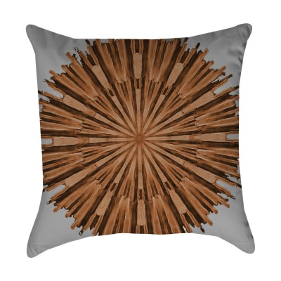 Coral Bohemian Outdoor Pillow