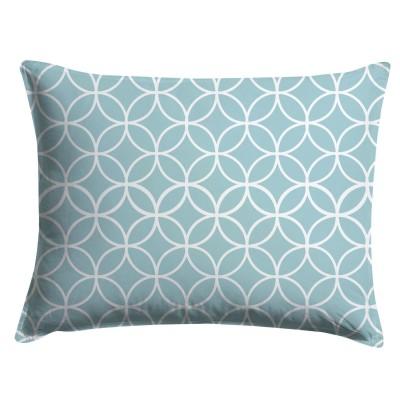 Light Blue Star Lattice Pillow Sham