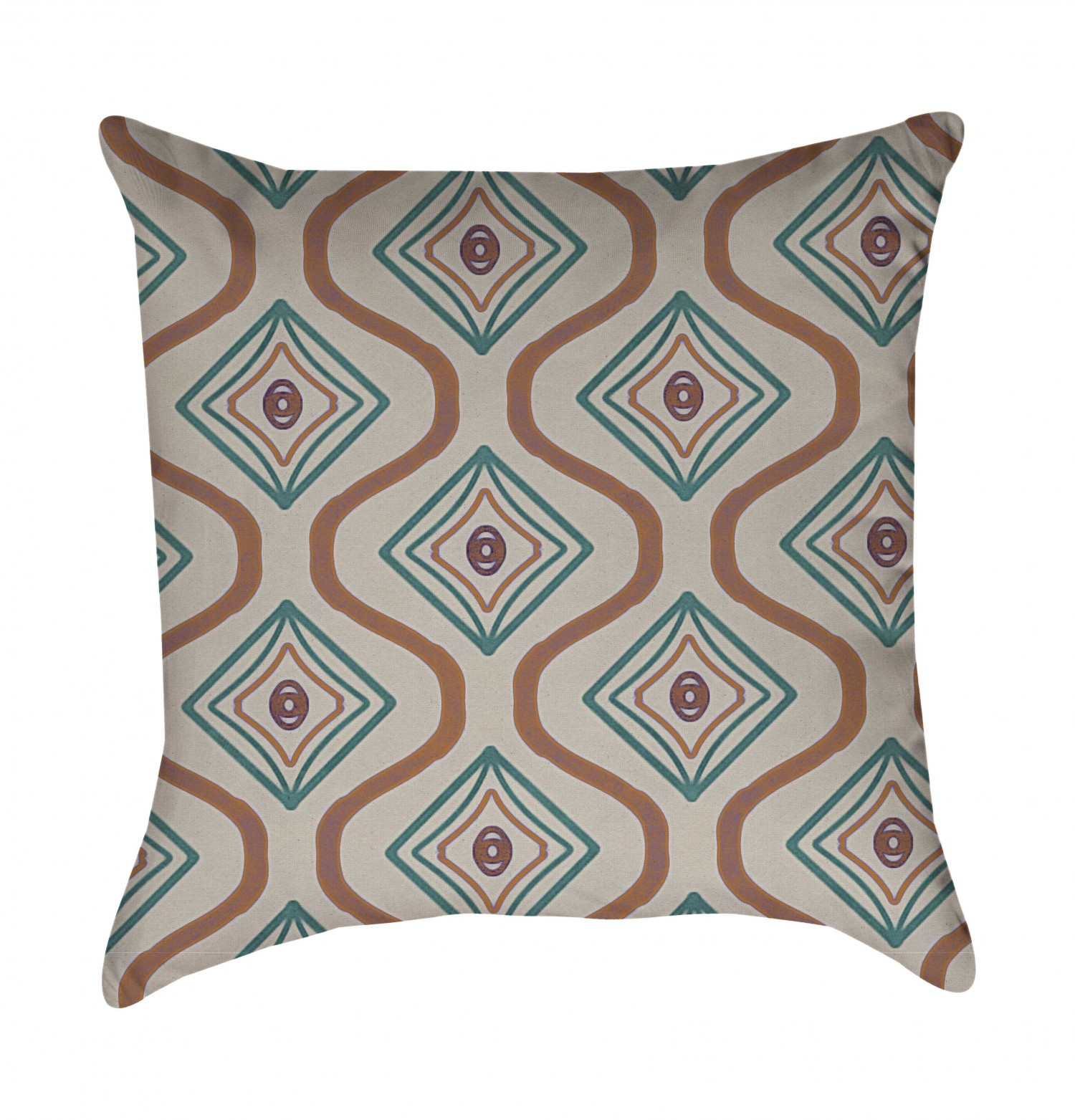 pillow cover graycoral2 mintcoral2