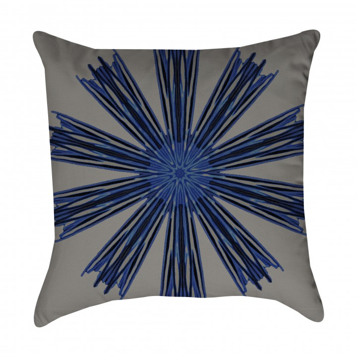 Indigo Bohemian Outdoor Pillow
