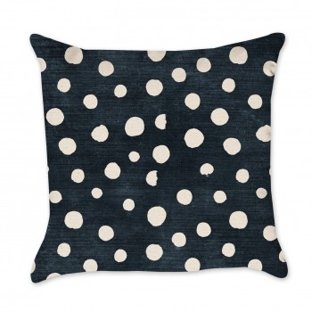 Indigo Pillow Cover - Polka Dots