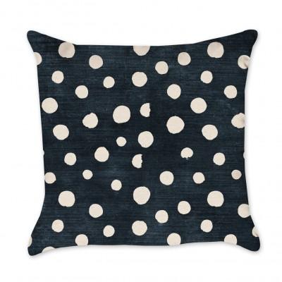 Indigo Pillow Cover - Polka Dots
