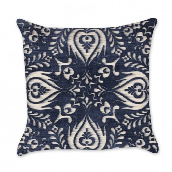 Medallion Ikat Indigo Pillow Cover