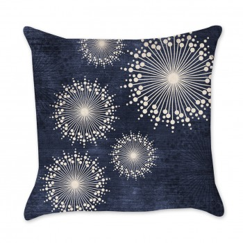 Flower Burst Indigo Pillow Cover