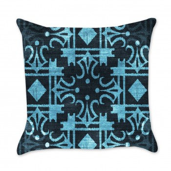 Ikat Indigo Pillow Cover