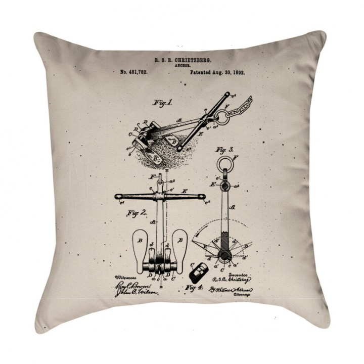 Anchor Patent Pillow Cover