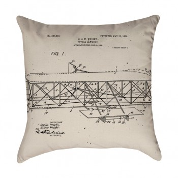 Wright Brother's Plane Pillow Cover