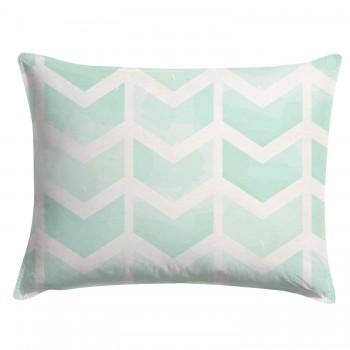 Watercolor Mint Chevron Pillow Sham