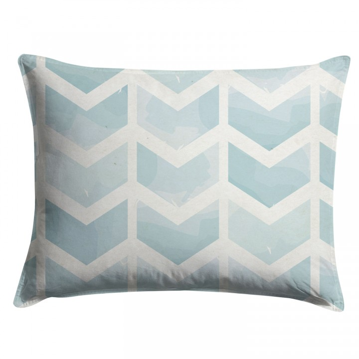 Watercolor Seafoam Chevron Pillow Sham
