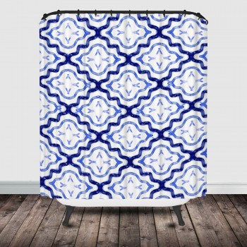 Moroccan shower curtain