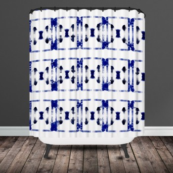 shibori shower curtain