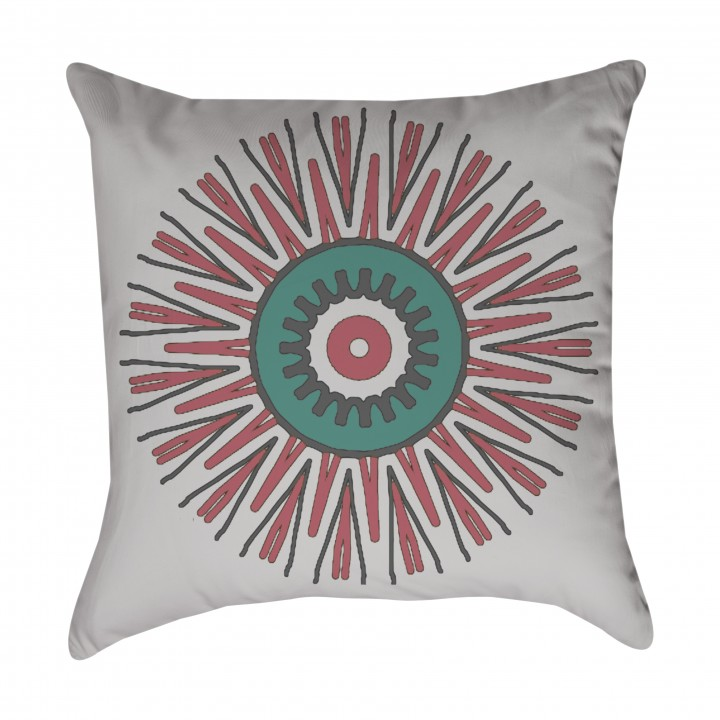 Starburst Tribal Outdoor Pillow