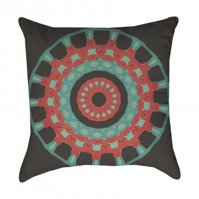 Tribal Medallion Outdoor Pillow