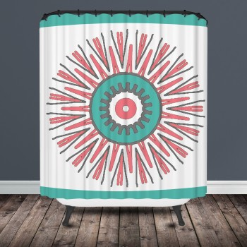 Star Burst Tribal Shower Curtain