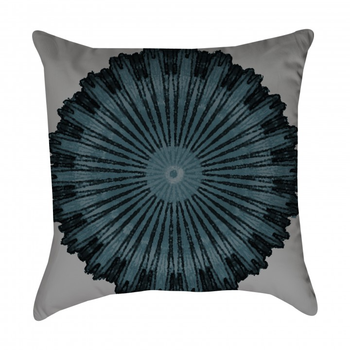 Turquoise Medallion Outdoor Pillow