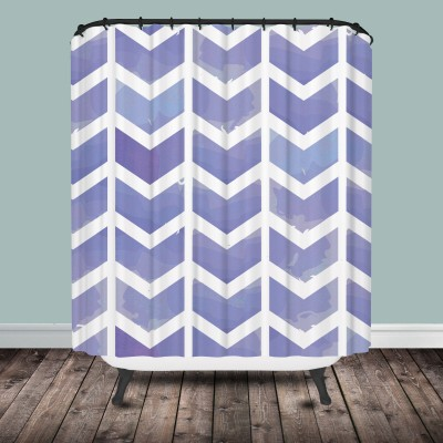 chevron shower curtain