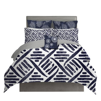 Indigo Tribal Pattern Duvet Cover