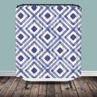 lavender Diamond Shower Curtain