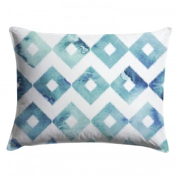 Watercolor Ikat Diamond Pillow Cover