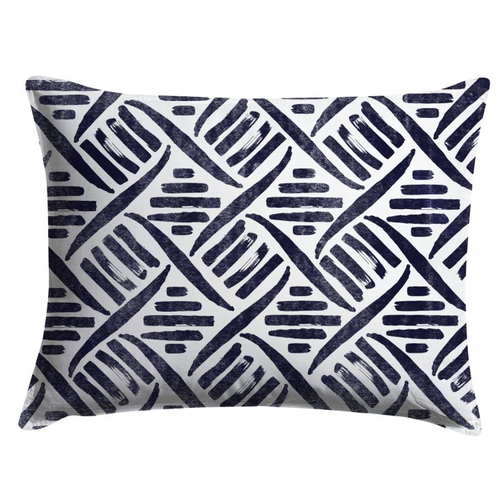 Indigo Tribal Pattern Pillow Sham