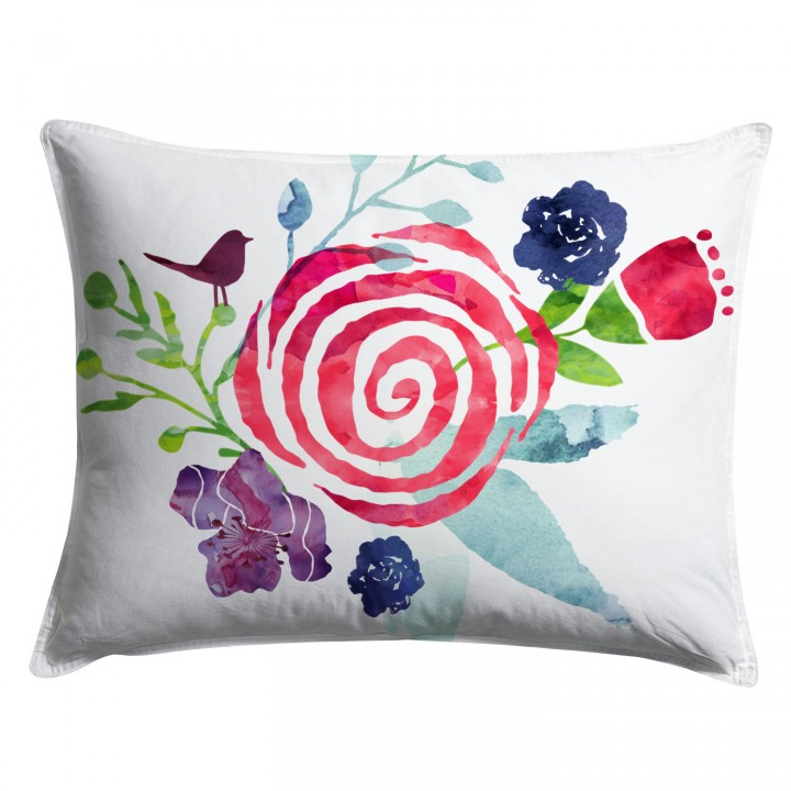 Watercolor Floral Chintz Pillow Sham