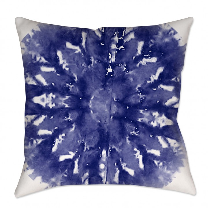 Indigo Shibori Morrocan Throw Pillow