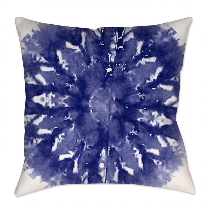 Indigo Shibori Morrocan Throw Pillow