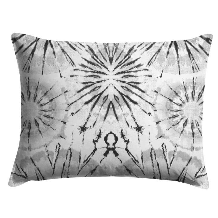 Gray Shibori Medallion Pillow Sham