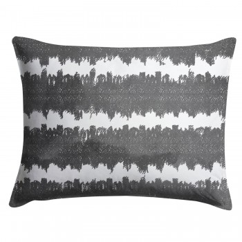 Gray Stripes Shibori Pillow Sham