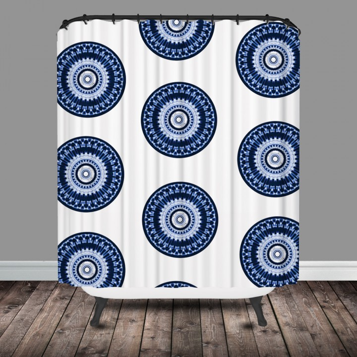 medallion shower curtain