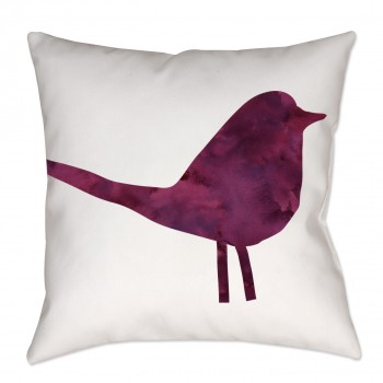 Watercolor Chintz Bird Throw Pillow