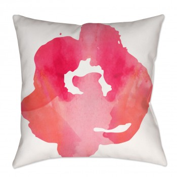 Watercolor Floral Chintz Throw Pillow