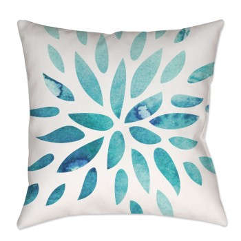 Watercolor Floral Throw Pillow
