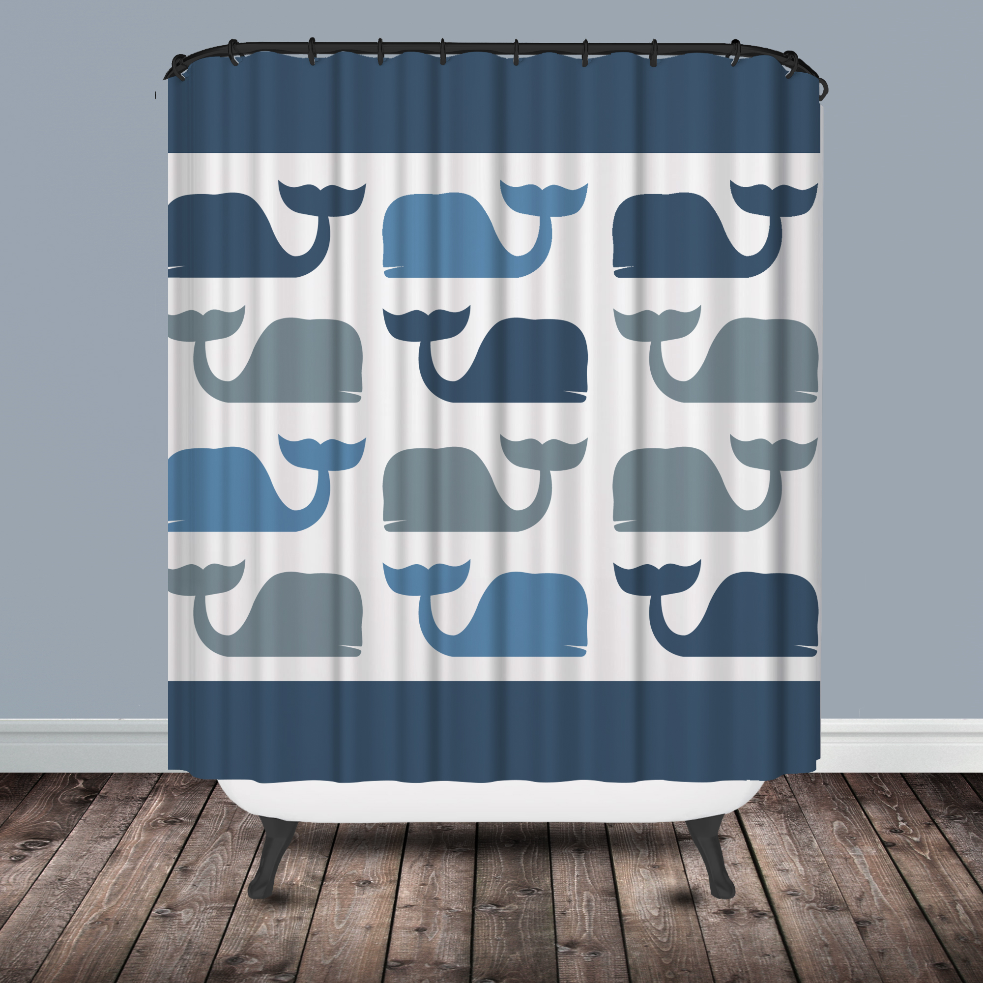Attractive Whale Shower Curtain